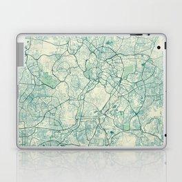 Kuala Lumpur Map Blue Vintage Laptop & iPad Skin