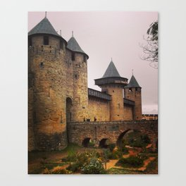 Carcassonne castle I Canvas Print