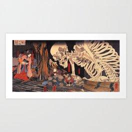 Takiyasha the Witch and the Skeleton Spectre, by Utagawa Kuniyoshi Art Print