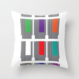 8-BIT Cartridges Throw Pillow