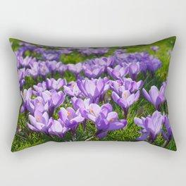 Purple Crocuses Rectangular Pillow