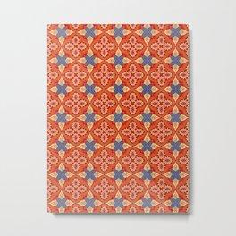 Moroccan Motet Pattern Metal Print