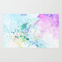 Stream of Consciousness watercolor Rug