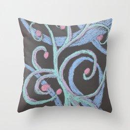 No. 32, Abstract Metallic Pastels Throw Pillow