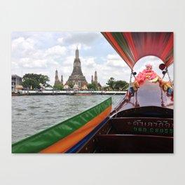 Longtail down the Chao Phraya Canvas Print