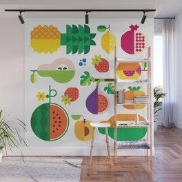 Fruit Medley White Wall Mural