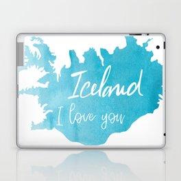 Iceland I love you Laptop & iPad Skin