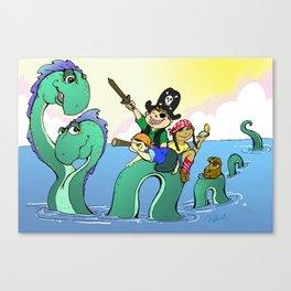 Loch Ness Pirates Canvas Print