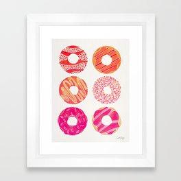 Half Dozen Donuts – Pink & Peach Ombré Framed Art Print