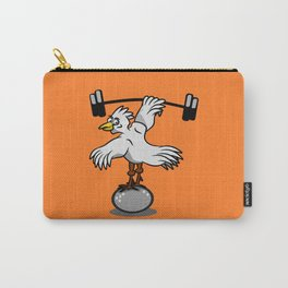 Chicken lifting weights Carry-All Pouch