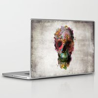 black widow Laptop & iPad Skins featuring SKULL 2 by Ali GULEC