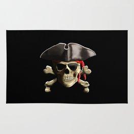 The Jolly Roger Pirate Skull Rug