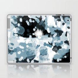 Minerva - abstract art home decor dorm college office minimal painting blue black white Laptop & iPad Skin