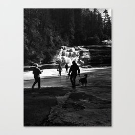 Out on the Ice Canvas Print