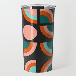 Spiffy - 70's retro throwback minimal geometric trendy colors art 1970s Travel Mug