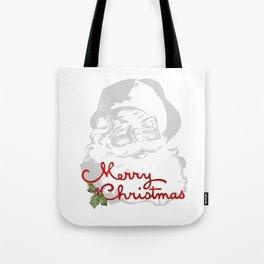 Jolly Santa Merry Christmas Tote Bag