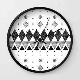 Geometric Screen Print Wall Clock