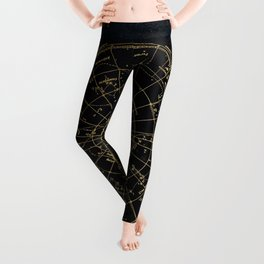 Golden Star Map Leggings