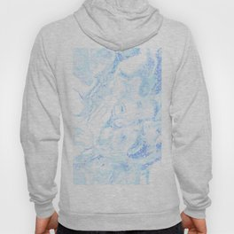White Marble with Pastel Blue Purple Teal Glitter Hoody