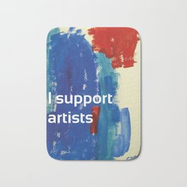 I Support Artists Coaster and Sticker Bath Mat