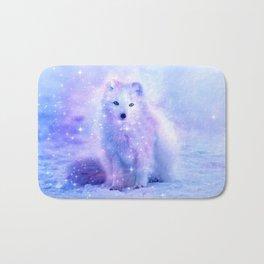 Arctic iceland fox Bath Mat