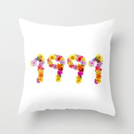All Color Flower 1991 Throw Pillow