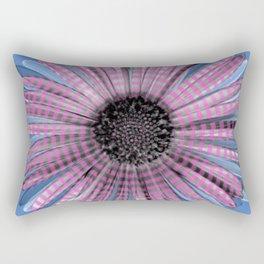 Urban daisy wearing street-cred stripes Rectangular Pillow