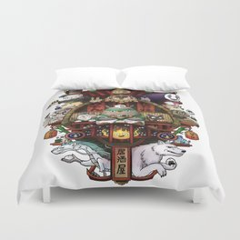 Ghibli Izakaya Print Coloured Duvet Cover