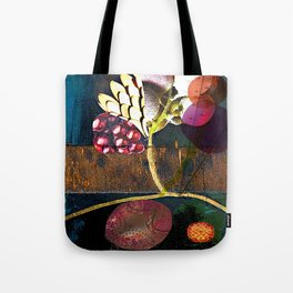 WoodFruit collage Tote Bag