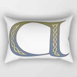 Celtic Knotwork Alphabet - Letter A Rectangular Pillow