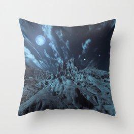 Blue Madness Throw Pillow