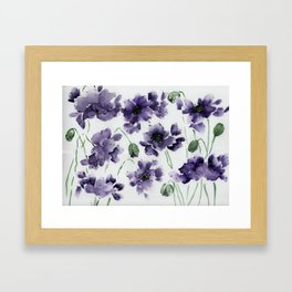 Field Of Blue Framed Art Print