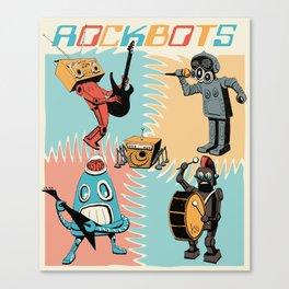 RockBots Illustration Canvas Print