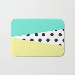Color Block & Polka Dots Bath Mat