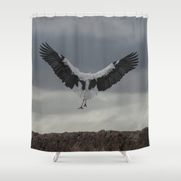 Spread your wings and land Shower Curtain