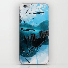 Electric Blue Guitar iPhone Skin