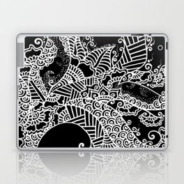 Zen Tree Rebirth Black Right Half Laptop & iPad Skin