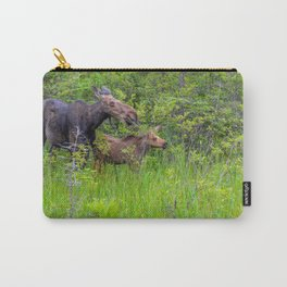 Moose and calf by Teresa Thompson Carry-All Pouch