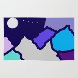 mountains and night sky Rug