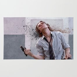 Detective Smecker From The Boondock Saints - There Was a Fire Fight Rug