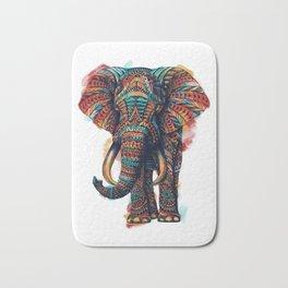 Ornate Elephant (Watercolor) Bath Mat