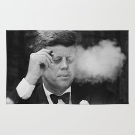 John F Kennedy Smoking Rug