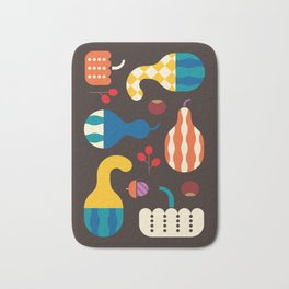 Autumn Gourds Bath Mat