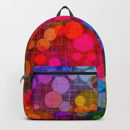 Rainbow Bubbles Abstract Design Backpack