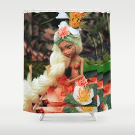 FAIRY Rebel Heart of Gold Shower Curtain