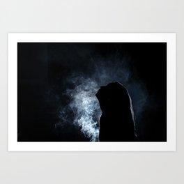 Self Smoke Art Print
