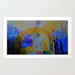 Jesus Sits on The Throne Art Print