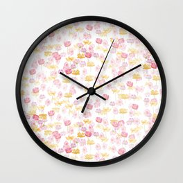 cosmos flower pattern Wall Clock