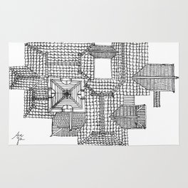Taiwanese roofscapes 01 Rug