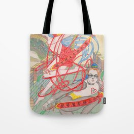 The Legendary Panda Brother & Dragon Sister  / Original A4 Illustration / Colored Pencil & Ink Tote Bag